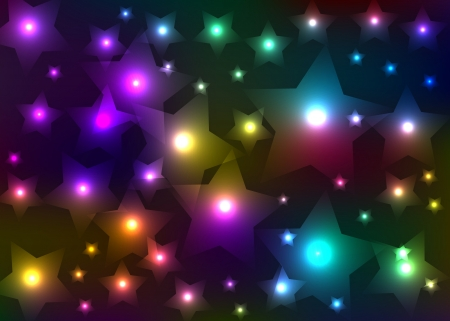 The abstract star sky. Vector photo