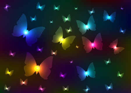 Abstract shone butterflies Stock Photo