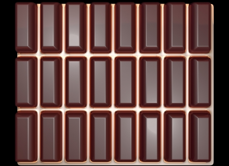 Chocolate tile on a gold background photo