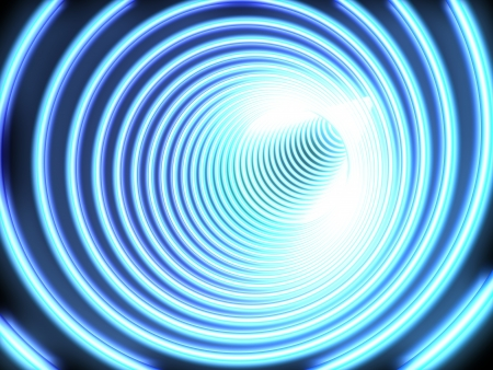 afar: Shone the tunnel of dark blue colour leaves afar
