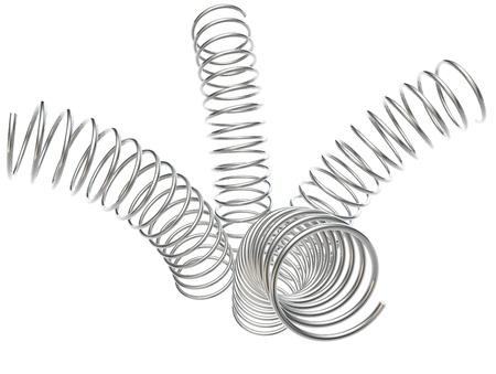 4 metalen veren worden gebogen elke welke manier