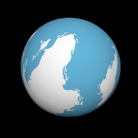 madre tierra: La Madre Tierra sobre un fondo negro Foto de archivo