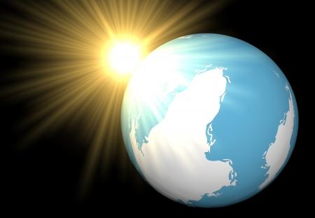 madre tierra: El sol se asom� por la madre tierra Foto de archivo
