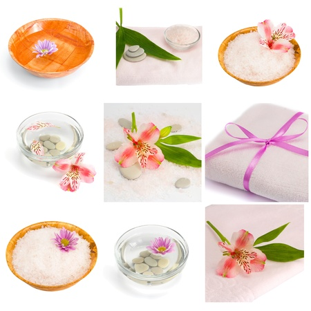Spa collection of accessories