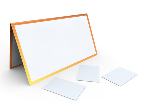 Calendar and cut-aways on a white background Stock Photo