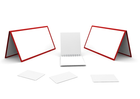 Calendar, notebook and cut-aways on the white isolated background Stock Photo - 17744756