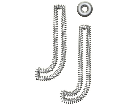 metal spring: The J of a metal spring isolated on white background