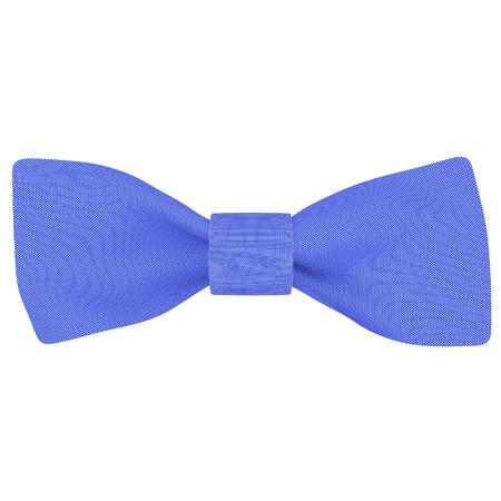 goodie: Blue bow on a white fabric background isolated Stock Photo