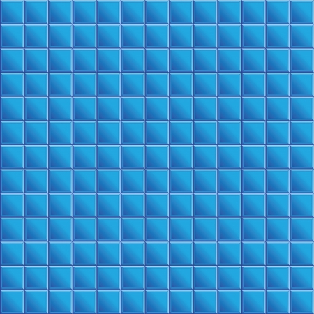 Seamless texture of blue tiles Vector