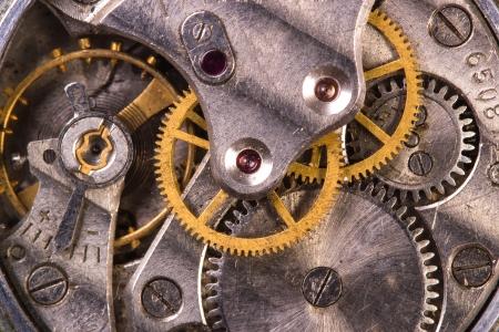 watch movement: Clockwork close-up Stock Photo