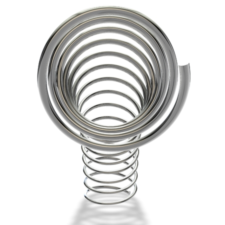 metal spring: Metal spring on a white background Stock Photo