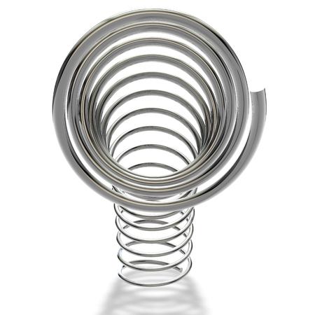 metal spring: Metal spring on a white background Stock Photo