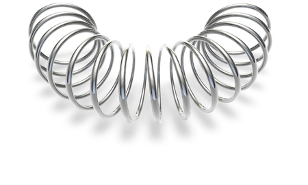 Metal spring on a white background Stock Photo