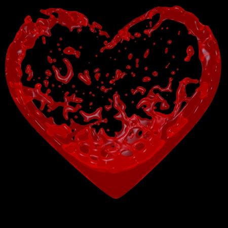 Inside the heart blood flows