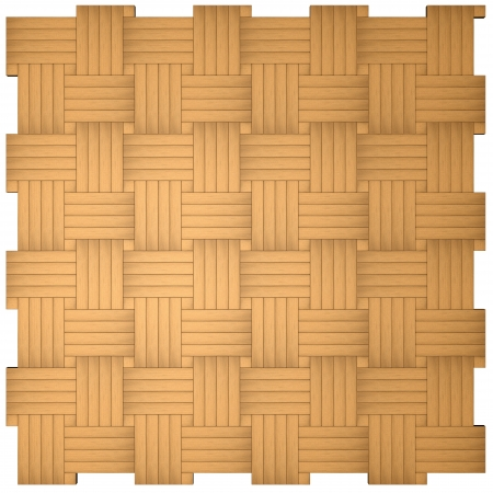Texture of a parquet on a white background photo