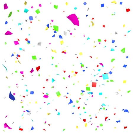 Gekleurd papier in de vlucht geïsoleerd op een witte achtergrond