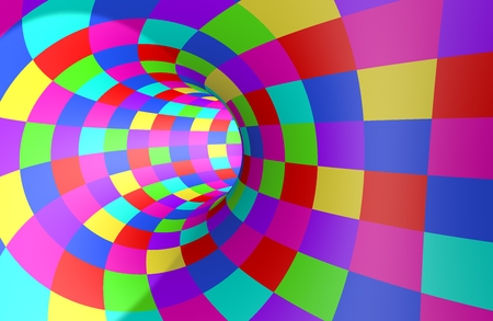 Abstract multi-colored tunnel