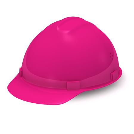 핑크 헬멧. 격리 된 배경