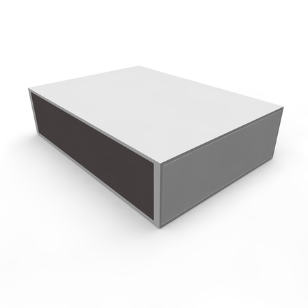 Template - empty matchbox. Isolated white background photo