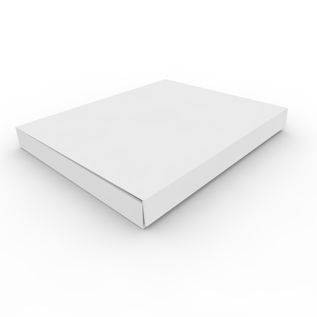 White empty box on an isolated background Imagens