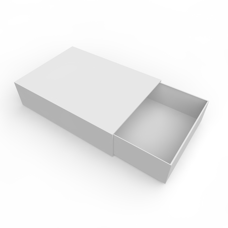 Blank white box of matches and other items Stock Photo