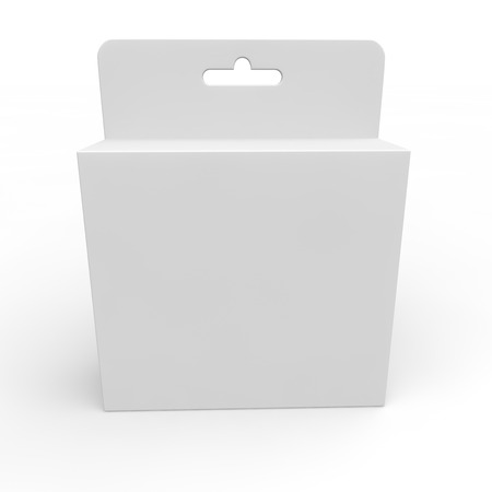 Blank white box for different products. Isolated background Stock Photo