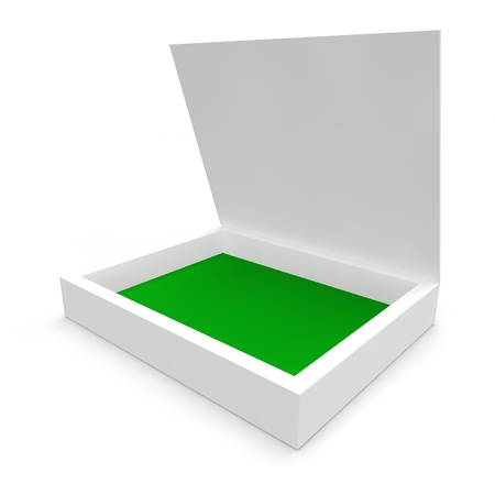 White empty box for CDs Stock Photo