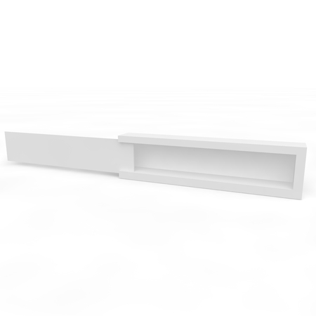elevated: Blank white box with sliding lid for gifts, products and other goods