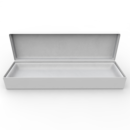 White blank box for jewelry and other goods