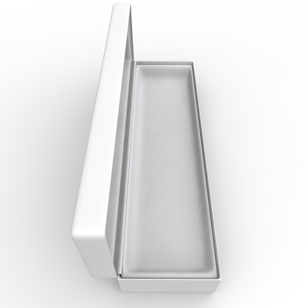 white goods: White blank box for jewelry and other goods