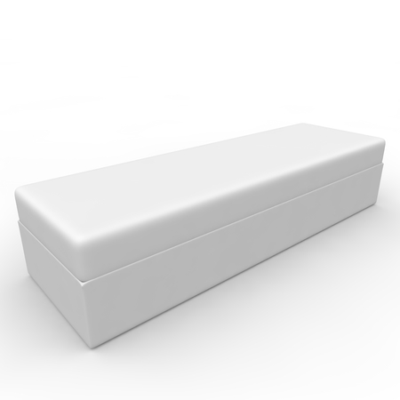 White blank box for jewelry and other goods photo