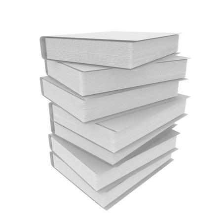 case binder: File folders stacked. Isolated white background