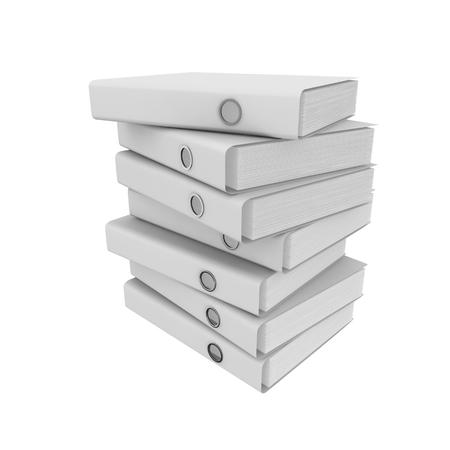 File folders stacked. Isolated white background photo
