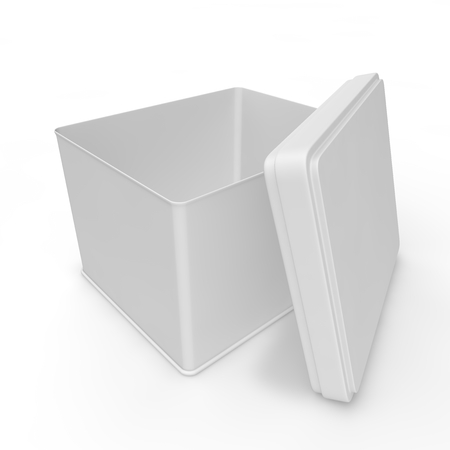 paperboard packaging: White blank bank for tea, coffee, spices and other products and merchandise