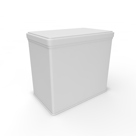 White blank bank for tea, coffee, spices and other products and merchandise