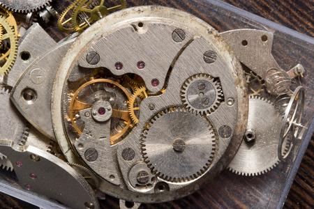 Old clock mechanism in macro scale