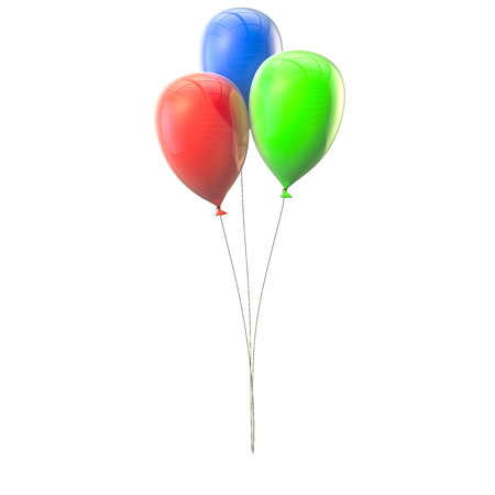 Lots of colorful balloons on the isolated background