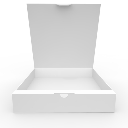 clasp: White blank box with a clasp for products and goods