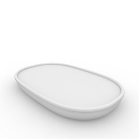 empty jar: White empty jar with a lid for fish oil, salads and other products and goods