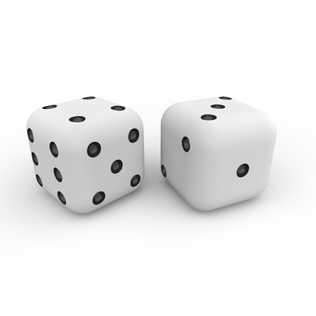 distraction: Game white cubes with black figures