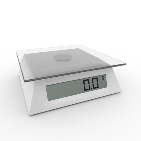 electromechanical: Included electronic kitchen scales on the isolated background