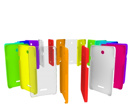 Colored plastic covers for your phone