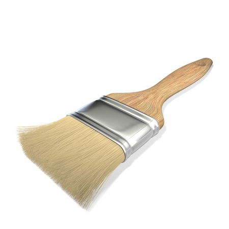 unused: Brush for painting isolated on white background