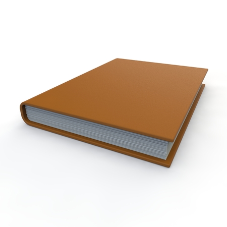 pape: Leather notebook orange on an isolated white background
