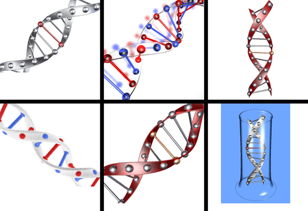 nucleotide: Set of DNA structures in different versions on an isolated background