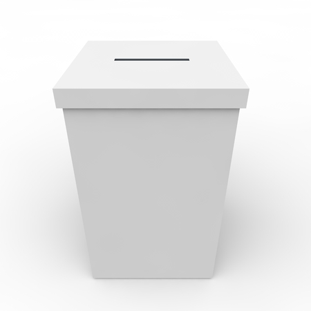 White empty box to vote on an isolated background