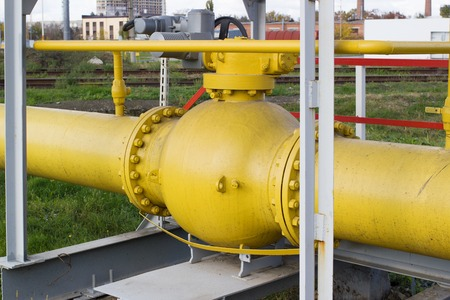 gas ball: Ball valve on the gas line behind the fence on the production