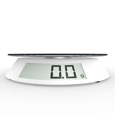 electronic background: Included electronic kitchen scales on the isolated background