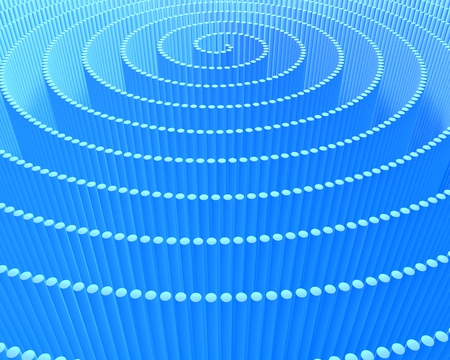 reiteration: A spiral of blue lines, abstract digital background pattern Stock Photo