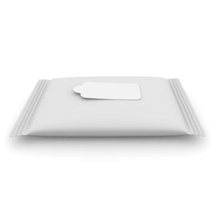 napkins: Big blank white napkins on an isolated background Stock Photo